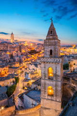 Matera, Italy. Cityscape image of medieval city of Matera, Italy during beautiful sunrise.