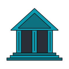 Bank building symbol vector illustration graphic design