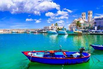 Molfetta - coastal town in Puglia with beautiful sea and beaches. Italian summer holidays