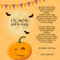 Pumpkin halloween card.