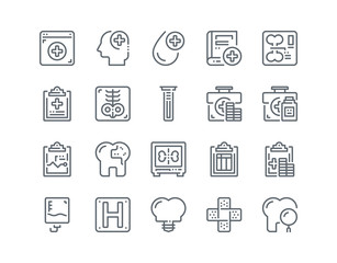Simple line icon set of Medical for website mobile app and more .Editable Stroke.