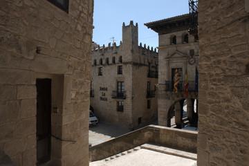 Edificios antiguos en el nucleo històrico de Valderrobles.