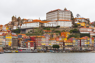 Panoramic view of Ribeira, Porto, in Portugal