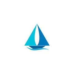 Sailboat logo vector design.