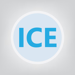 ICE (In Case of Emergency) concept- vector illustration