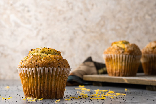 Lemon poppyseed muffins, ready for a great breakfast