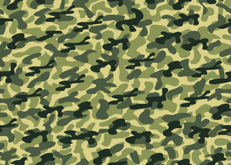 Camouflage seamless background. Vector military texture. Abstract army and hunting masking ornament.