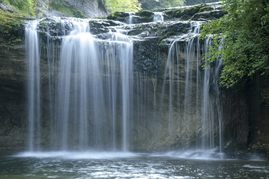 Herisson waterfalls in Jura France
