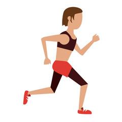 Fitness woman running vector illustration graphic design vector illustration graphic design