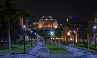 Hagia Sophia museum at the evening, Istanbul, Turkey