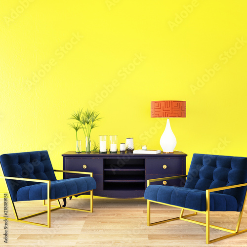 3d rendering,3d illustration,interior design for living area or ...