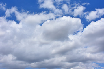 View of clouds in the blue sky