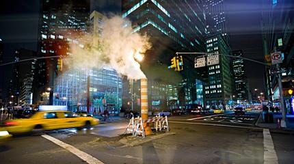 nigth streets in New York city  Fotomurales