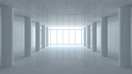 heavenly corridor 3d room illustration render background