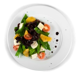 Salad with Cheese and Oranges