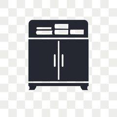 Cabinet vector icon isolated on transparent background, Cabinet logo design