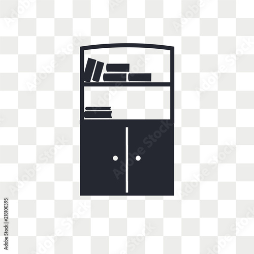 Bookshelf Vector Icon Isolated On Transparent Background Logo Design