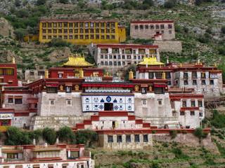 The great Ganden monastery, Tibet, China