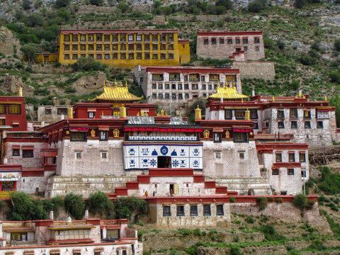 The great Ganden monastery, Tibet, China