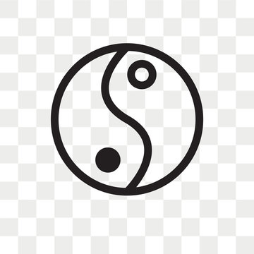 Yin and yang vector icon isolated on transparent background, Yin and yang logo design