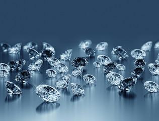 Diamonds under blue light