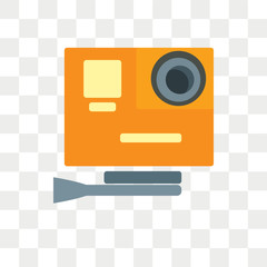 Action camera vector icon isolated on transparent background, Action camera logo design