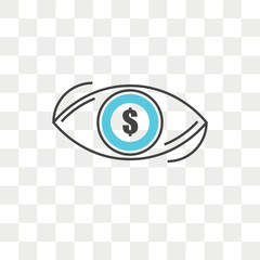 Vision vector icon isolated on transparent background, Vision logo design