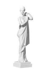 statue woman on a white background