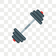 Barbell vector icon isolated on transparent background, Barbell logo design