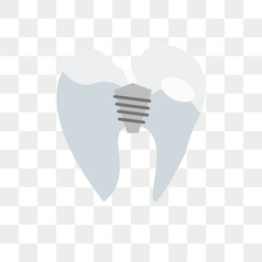 Premolar vector icon isolated on transparent background, Premolar logo design