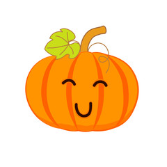 Cute smiling pumpkin, for your design. Vector