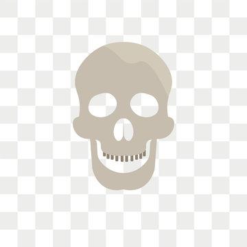 Skull vector icon isolated on transparent background, Skull logo design