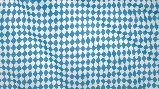 Bavarian fluttering flag, imitation of waves on the flag.