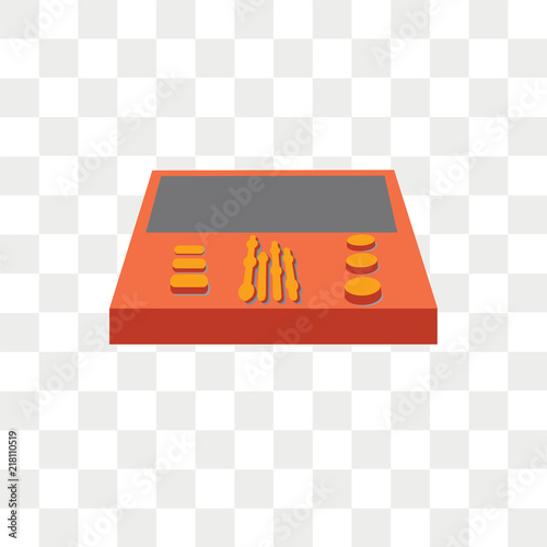 workstation vector icon isolated on transparent background