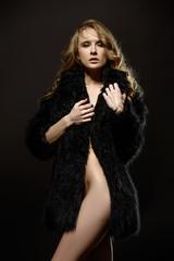 coat on naked body