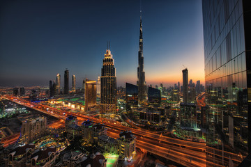 Downtown Dubai City skyline