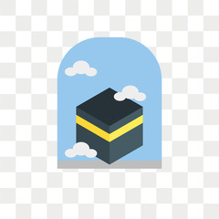 Kaaba vector icon isolated on transparent background, Kaaba logo design