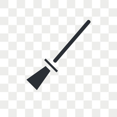 Broomstick vector icon isolated on transparent background, Broomstick logo design