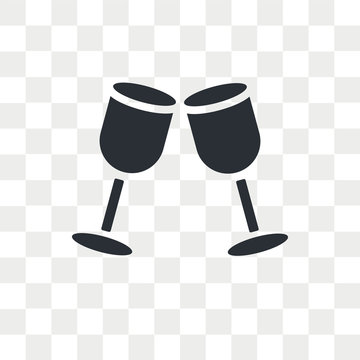 Drinks vector icon isolated on transparent background, Drinks logo design