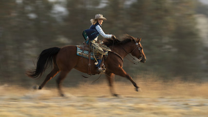 Galloping Cowgirl