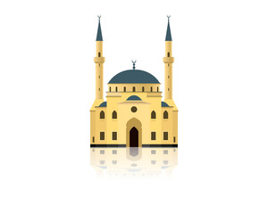 Islamic mosque building