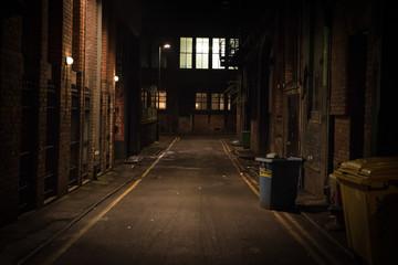 Fototapeta Dark alley at night