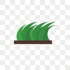 Grass vector icon isolated on transparent background, Grass logo design