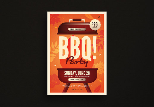 Autumn BBQ Party Flyer Layout