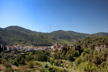 Pueblo en las montañas de Castellón (Comunidad valenciana))