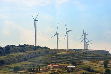 Molinos de viento. Producción de electricidad