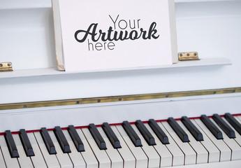 Piano Stand Mockup
