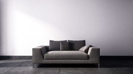 Single two seat sofa