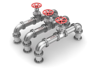 Industrial Pipeline and Valve