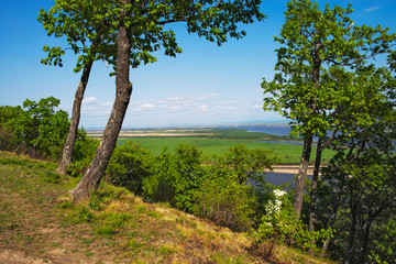 The Amur River near the town of Amursk. Khabarovsk region of the Russian Far East.